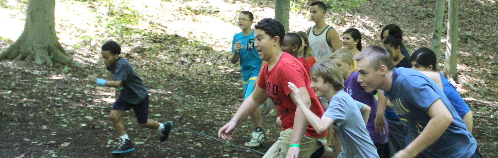 Running up the Hill at Camp Can Do
