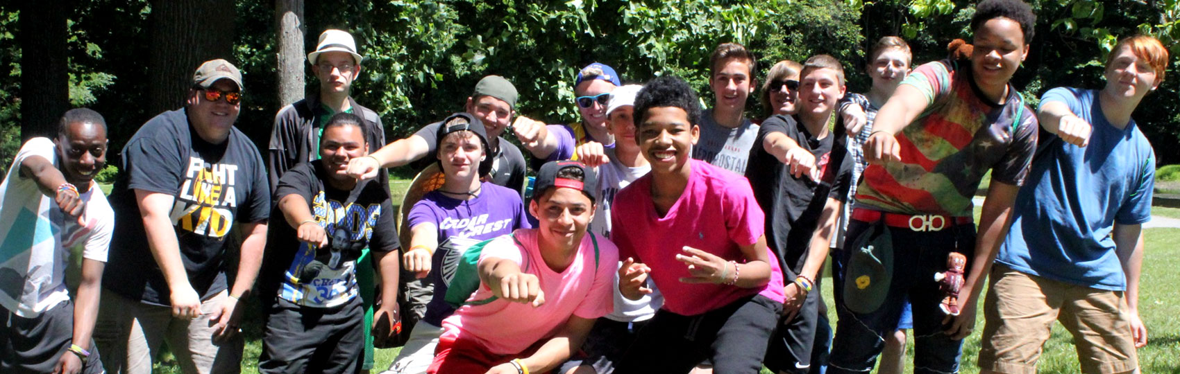 Group of Happy Boys at Camp Can DO